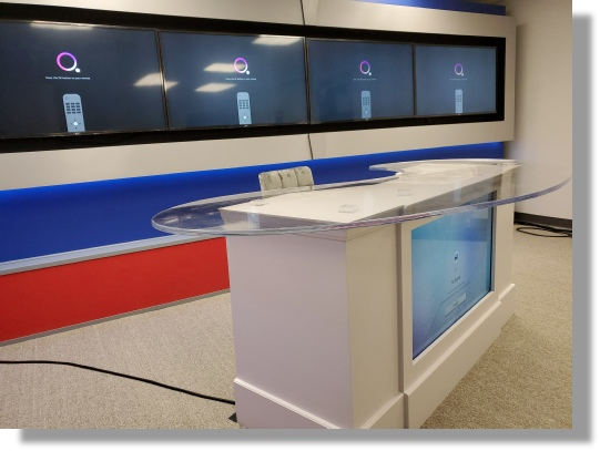 DC Scenic complete scenic TV Studio fabrication package in Washington DC and Maryland.
